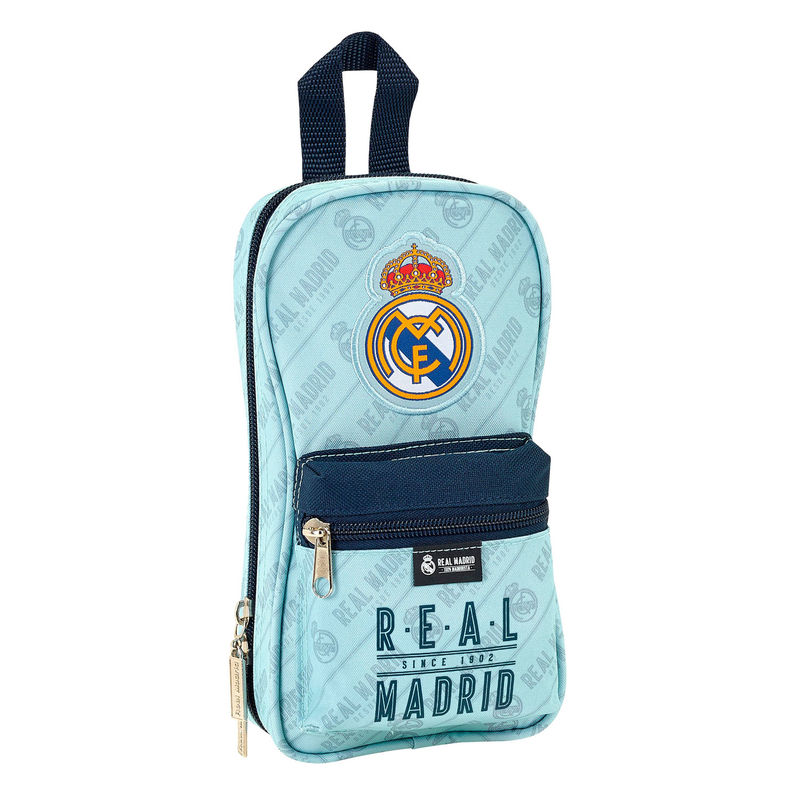Plumier Mochila C/4Port.Real Madrid 12x5x23cm.
