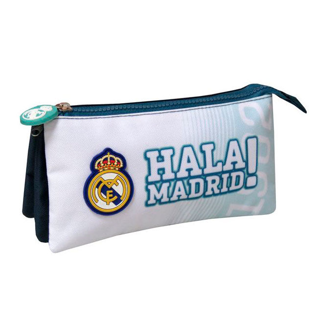 Portatodo Real Madrid Triple 22x12x6,5cm.