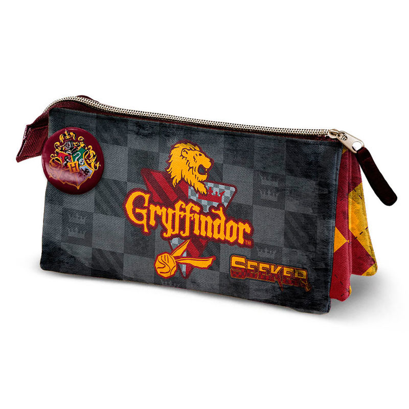 Portatodo Harry Potter Quidditch Gryffindor Triple 10x23x5cm.