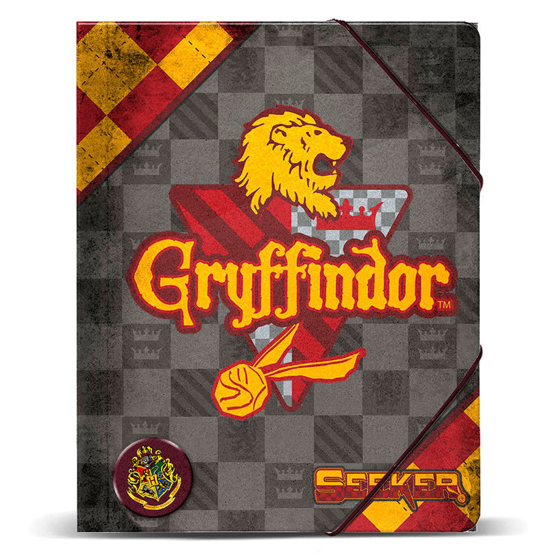 Carpeta Harry Potter Quidditch Gryffindor A4 Gomas 32x27x1cm.