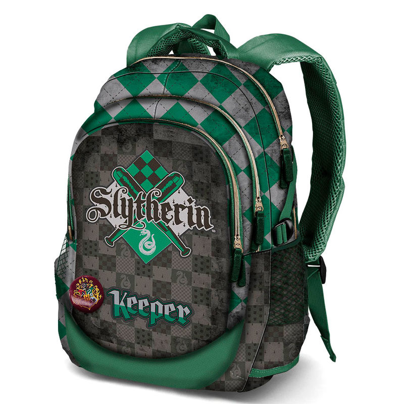 Mochila Harry Potter Quidditch Slytherin 44x30x17cm.