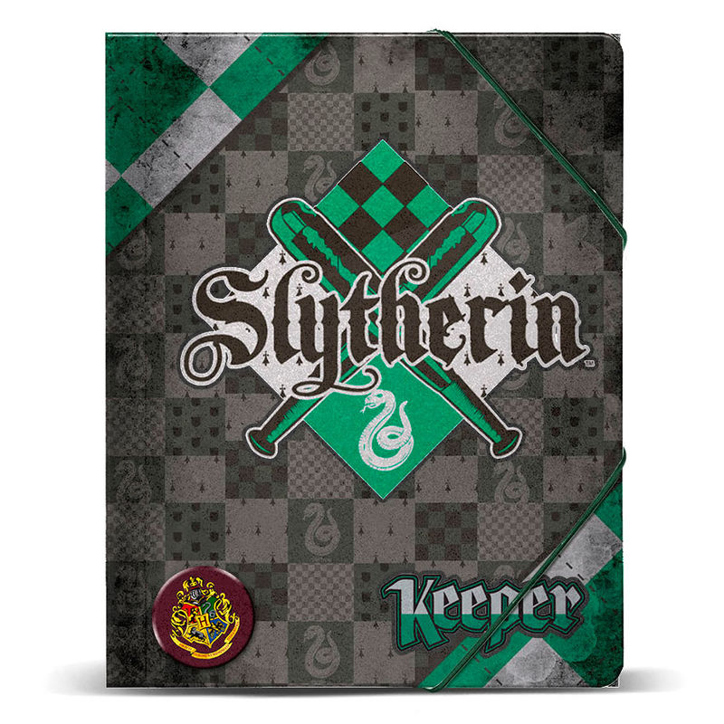 Carpeta Harry Potter Quidditch Slytherin A4 Gomas 32x27x1cm.