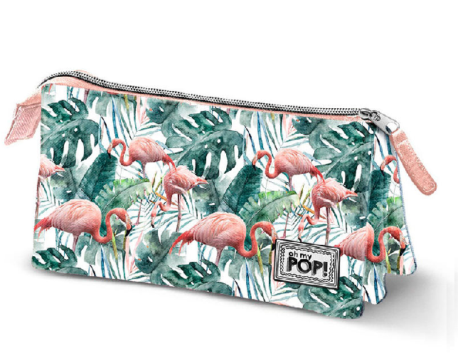Portatodo Oh My Pop Tropical Flamingo Triple 10x23,5x5cm.