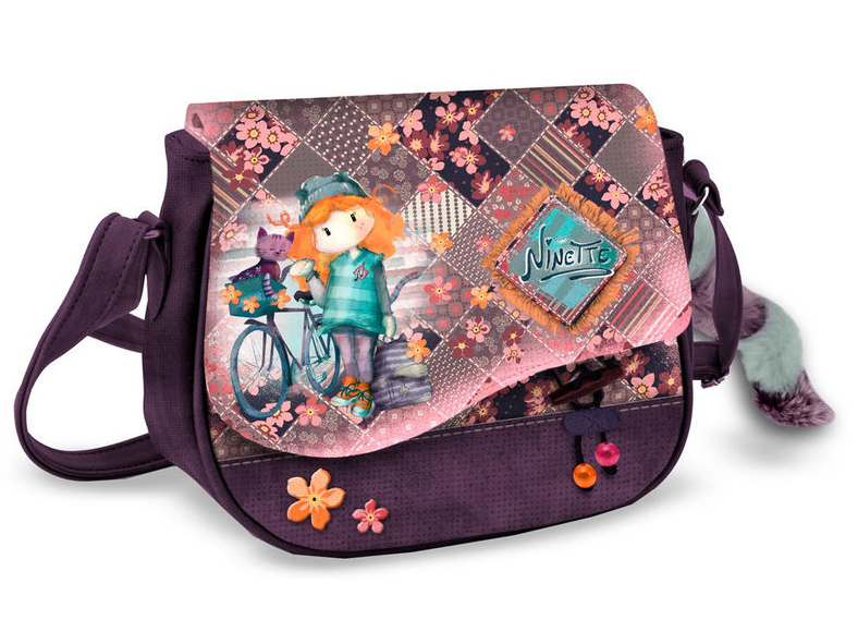 Bolso Muffin Ninette Forever Bicycle 10x24x19cm.
