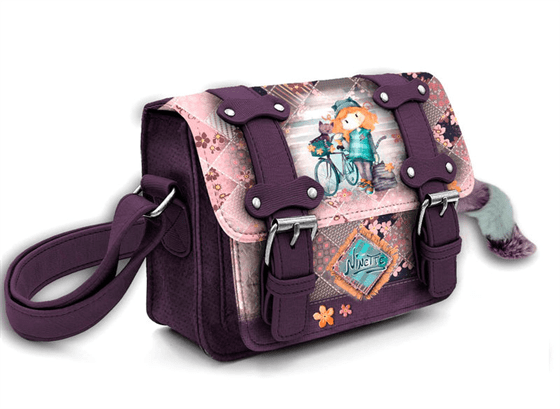 Bolso Satchel Ninette Forever Bicycle 15x20x7cm.