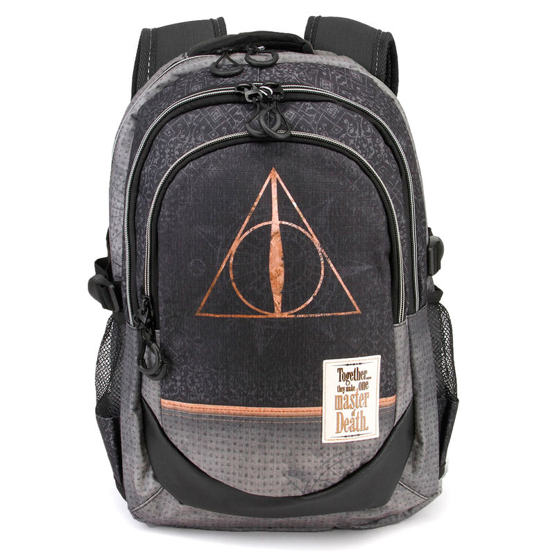 Mochila Harry Potter Deathly Hallows Black 44x30x17cm.