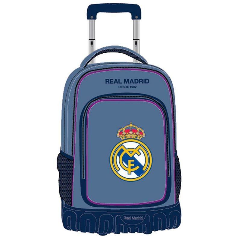 Trolley Real Madrid Campus Azul 4r 32x50x21cm.