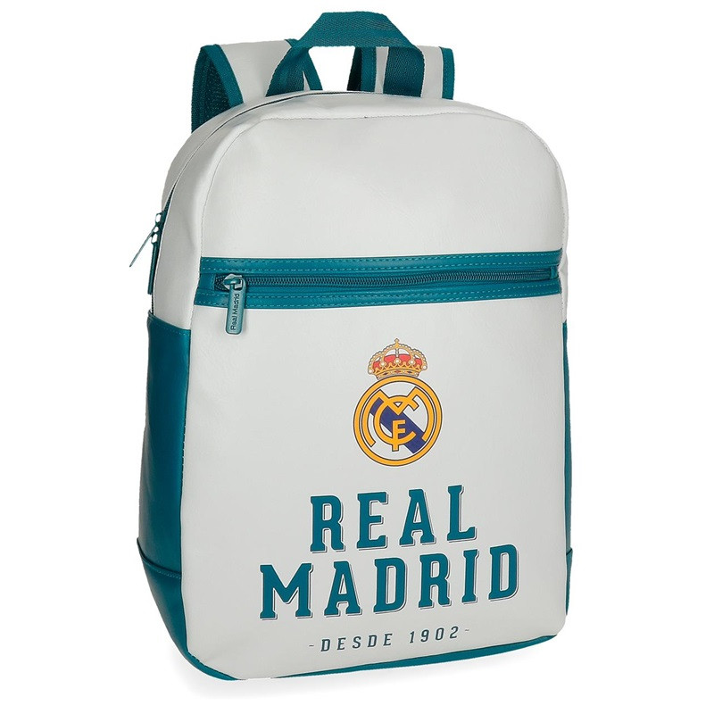 Mochila Real Madrid Adaptable 36x27x12cm.